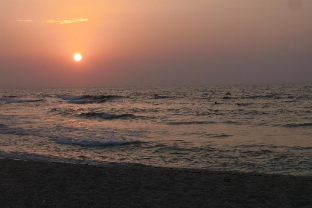 Typisch Kreta: Sonnenuntergang bei Chersonissos