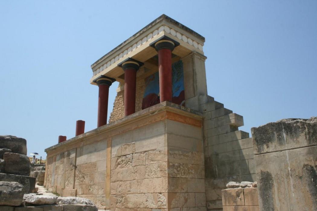 Typisch Kreta: Minoischer  Riesen-Palast Knossos