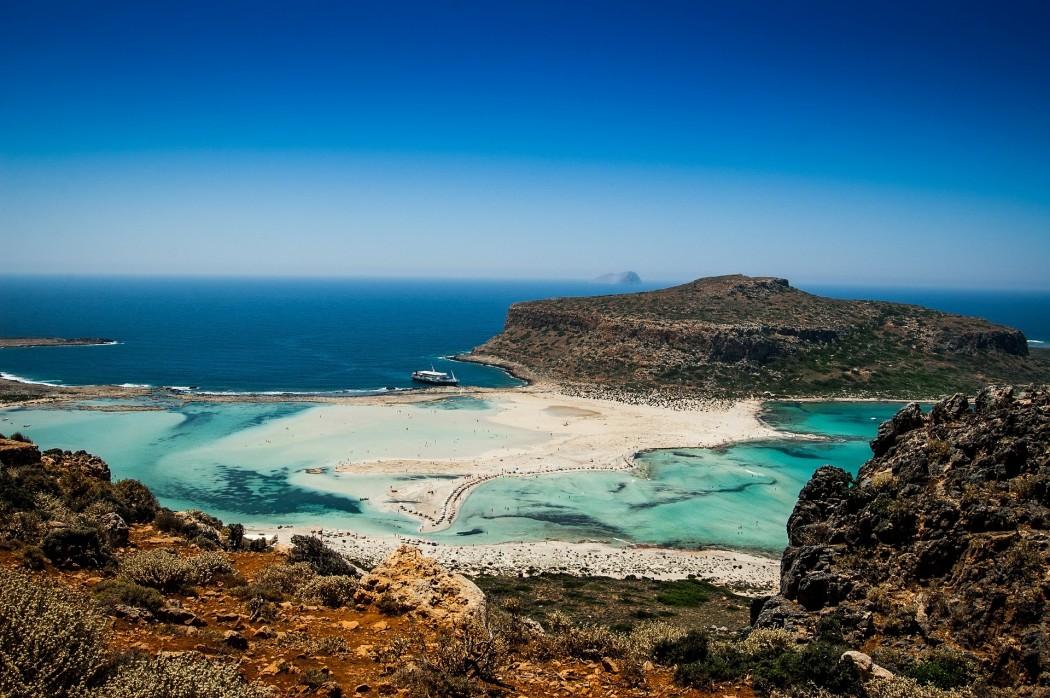 TYpisch Kreta: Lagune und Strand bei Balos