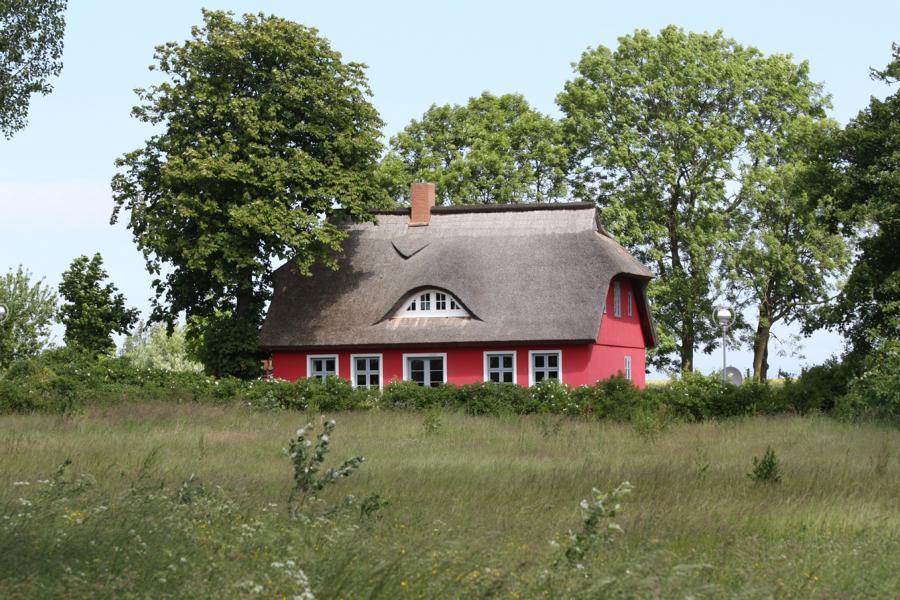 Typisch Rügen: Reetgedeckte Ferienhäuser